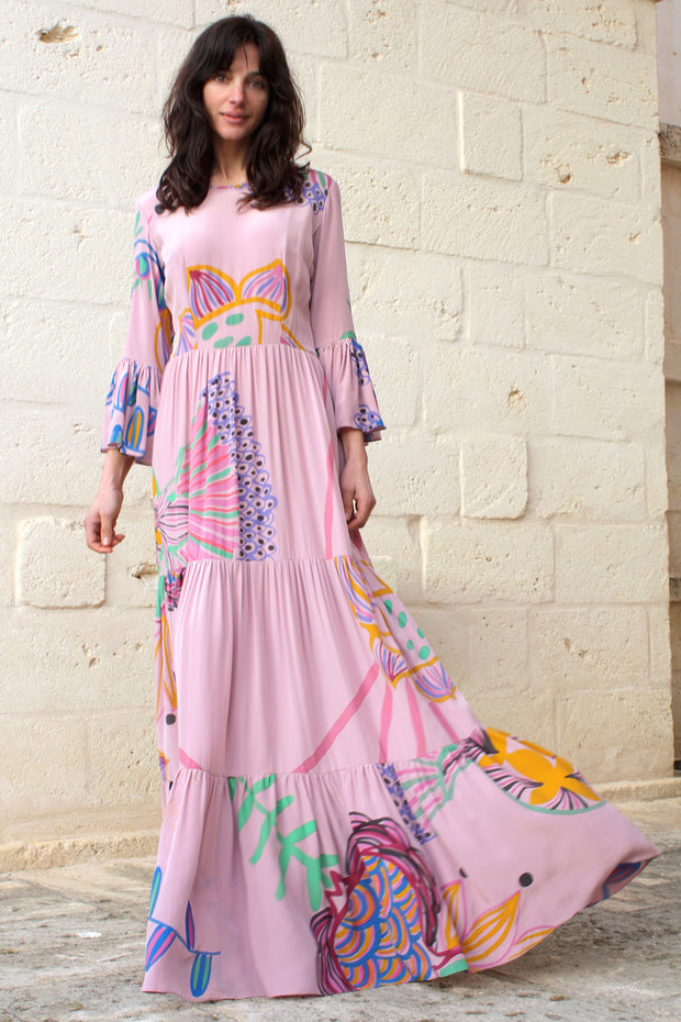 Dresses - Pia Gathered Tier Maxi Dress