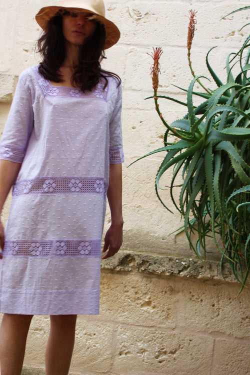Romantic II Square Neck Knee Length Kaftan - Soler London - Alex Al-Bader
