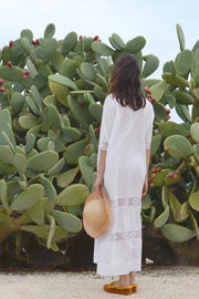 Romantic II Square Neck Midi Kaftan - Soler London - Alex Al-Bader