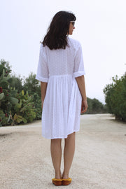 Romantic III Henley Knee Length Dress - Soler London - Alex Al-Bader