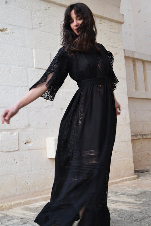 San Tropez Full Skirt Maxi Dress - Soler London - Alex Al-Bader
