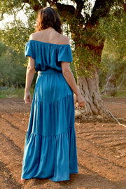 Thalia Flair Sleeve Maxi Dress - Soler London - Alex Al-Bader