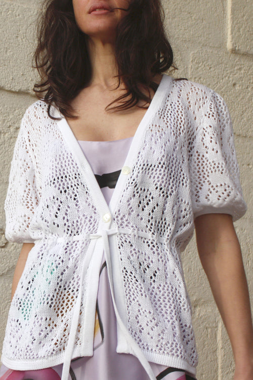 Lola Short Sleeve Cardigan - Soler London - Alex Al-Bader