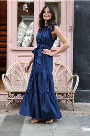 Malta Bow-Tie Ankle Length Dress | Bespoke it!
