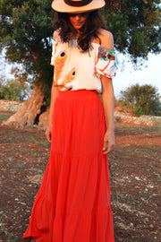 Pia Gathered Tier Maxi Skirt - Soler London - Alex Al-Bader