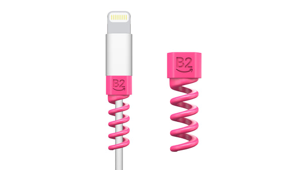 Kit (2pcs) B2 Smile Charger Cable Saver | MacBook iPhone Micro USB HeadPhone Protector - B2 Smile