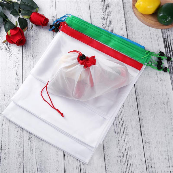 Zero-Waste Reusable Produce Bags - 15pcs
