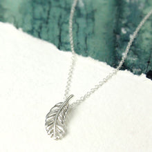 Ila * Feather Necklace * Sterling Silver * Feather Jewelry * Silver Feather * Boho Jewelry * Feather Gift * Feather Charm * Silver Necklace - Pendant - Songs of Ink and Steel - Jewellery - Bespoke