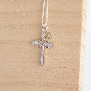 Maui * Infinity Cross Necklace * Sterling Silver * Cross Necklace * Infinity Necklace * Silver Cross * Cross Jewelry * Communion Gift * God