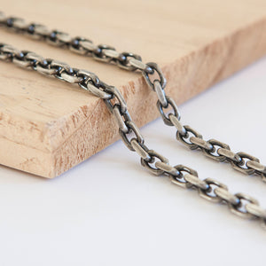 Oxidised Solid Silver * Anchor Chain * Sterling Silver * Silver Anchor Chain * Silver Anchor Necklace * Oxidised Necklace * Gunmetal Chain * - Chain - Songs of Ink and Steel - Jewellery - Bespoke