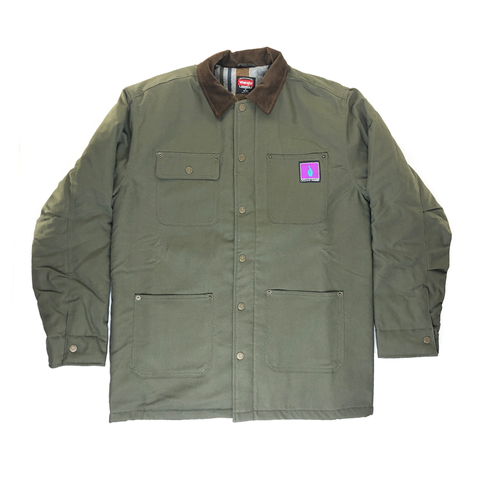 DH Double Lined Olive Coat