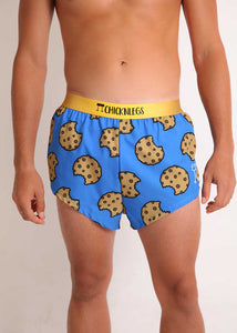 "ChicknLegs men's cookies 2"" split running shorts"
