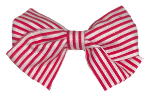 Betsy Basic Bow - Red Stripes