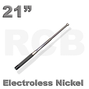 "21"" (53 cm) RCB Expandable Baton, Electroless Nickel"