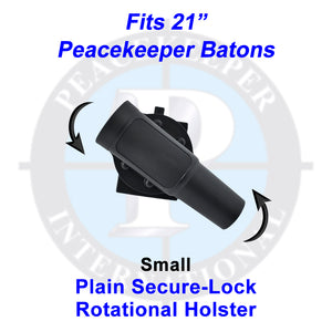 "Plain Secure-Lock Rotational Holster for 21"" Batons"