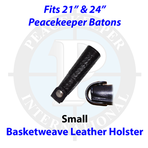 "Basketweave Leather Holster for 21"" and 24"" Batons"
