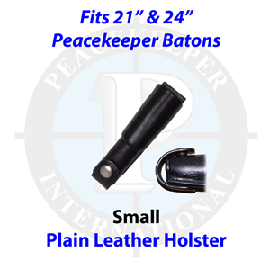 "Plain Black Leather Holster for 21"" and 24"" Batons"