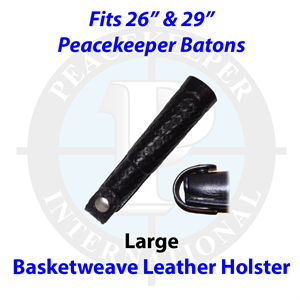 "Basketweave Leather Holster for 26"" and 29"" Batons"