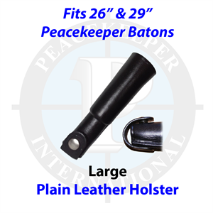 "Plain Black Leather Holster for 26"" and 29"" Batons"