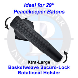 "943-SLBW-XL - Xtra-Large Basketweave Finish Secure-Lock Rotational Holster (Idea for 29"" Peacekeeper Batons)"