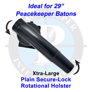 "943-SLP-XL - Xtra-Large Plain Finish Secure-Lock Rotational Holster (Idea for 29"" Peacekeeper Batons)"