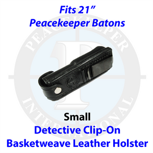 "Detective Basketweave Leather Holster w/ Clip for 21"" Batons"