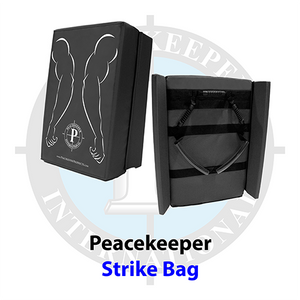 Peacekeeper Ballistic Nylon Strike Shield w/Safety Side Panels, Black'