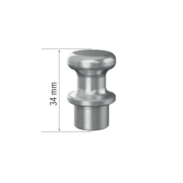Magnetic Clamping Bolt 34 - Aluminum (Item No. 2-160740) 16mm Welding Table Accessories - Quantum Machinery Group: Official Siegmund US Welding Tables and Fixtures Division