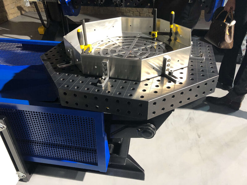 "System 16 600x100mm (23.6""x3.9"") Siegmund Octagonal Welding Table with Plasma Nitration (Item No. 2-920616.P)"
