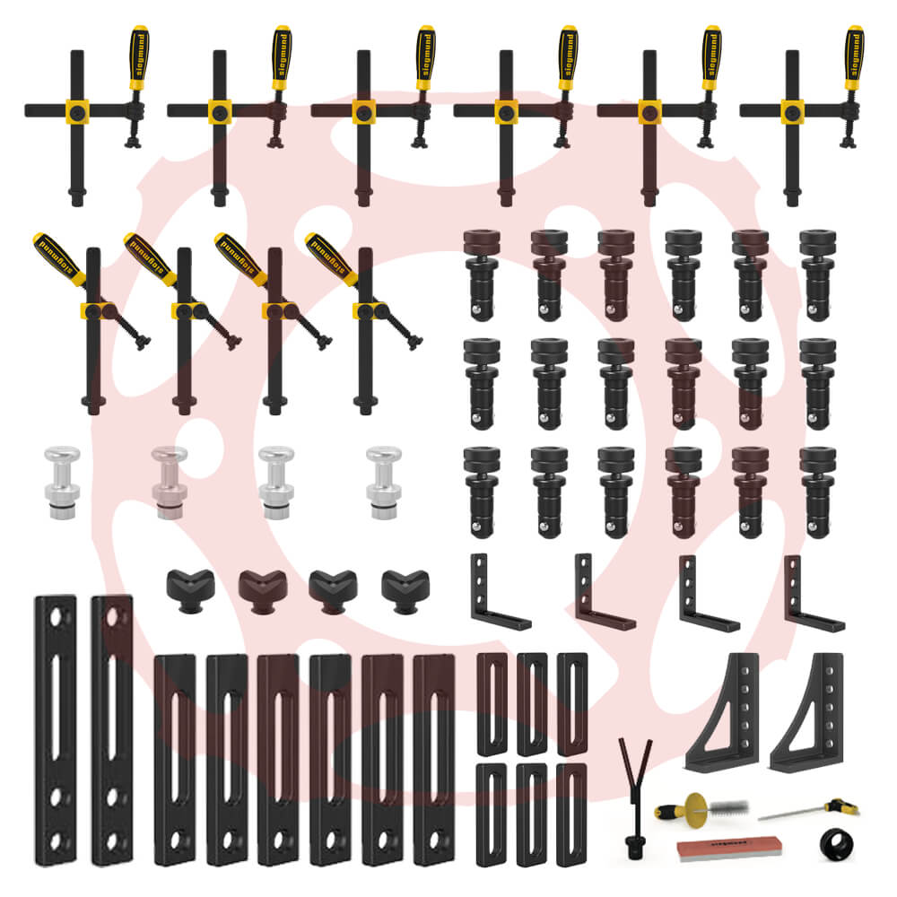 Set 2.1 for System 22 (56 Piece) - 22mm Bored Hole Accessories (Item No. 4-223200.2)