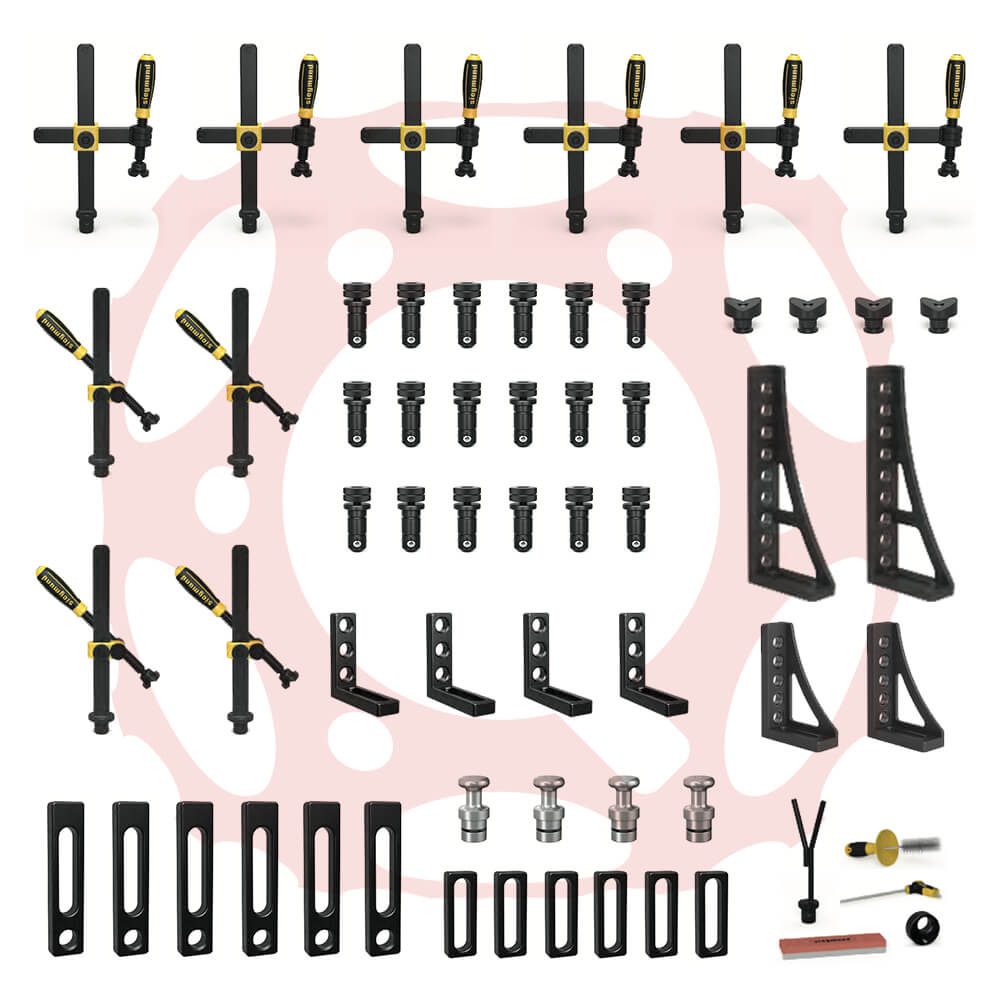 Set 2.1 for System 28 (56 Piece) - 28mm Bored Hole Accessories (Item No. 4-283200.1)