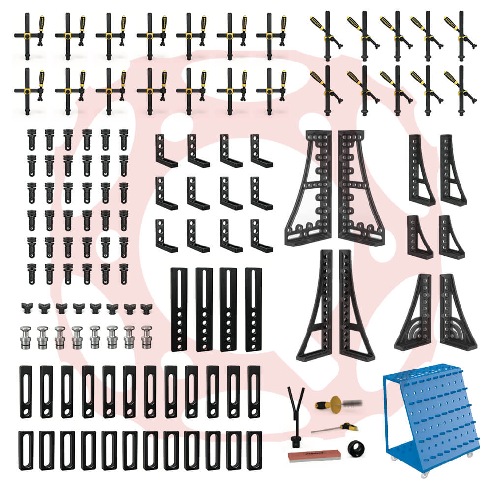 4-283500: Set 5, 127 Piece Accessory Kit for the System 28 Metric Series Welding Tables