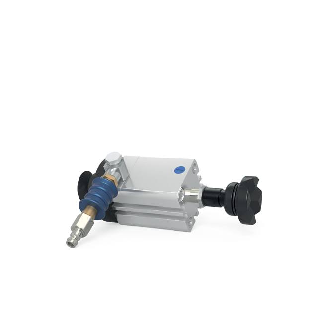Pneumatic Cylinder, short Form incl. Adapter System 28 (Item No. 0-000851) - Quantum Machinery Group: Official US Welding Tables and Fixtures Division