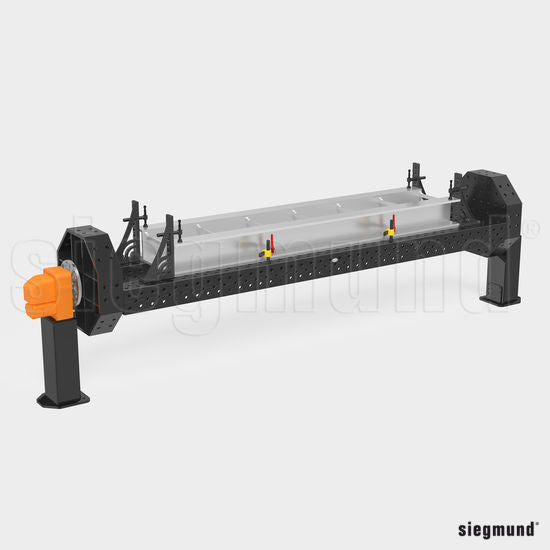 "System 28 1,200x100mm (47.2""x3.9"") Siegmund Octagonal Welding Table with Plasma Nitration (Item No. 2-921200.1.P)"