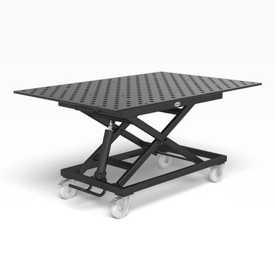 System 28 Mobile lifting table incl. Perforated plate 1500x1000x15 (Item No. 2-HT804014.XD7)