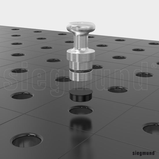Cover Cap / Pack of 10 Steel Caps for the System 16 Welding Tables Ø 16 (Item No. 2-160238.10)