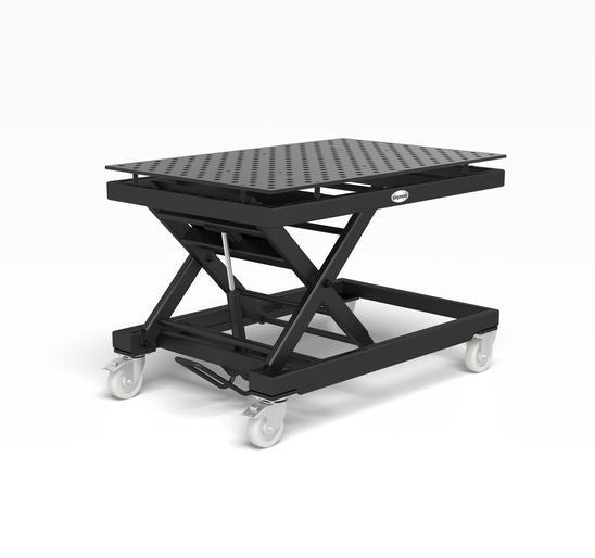 System 28 Heavy-duty mobile lifting table incl. Perforated plate 1500x1000x15 (Item No. 2-HS804014.XD7)
