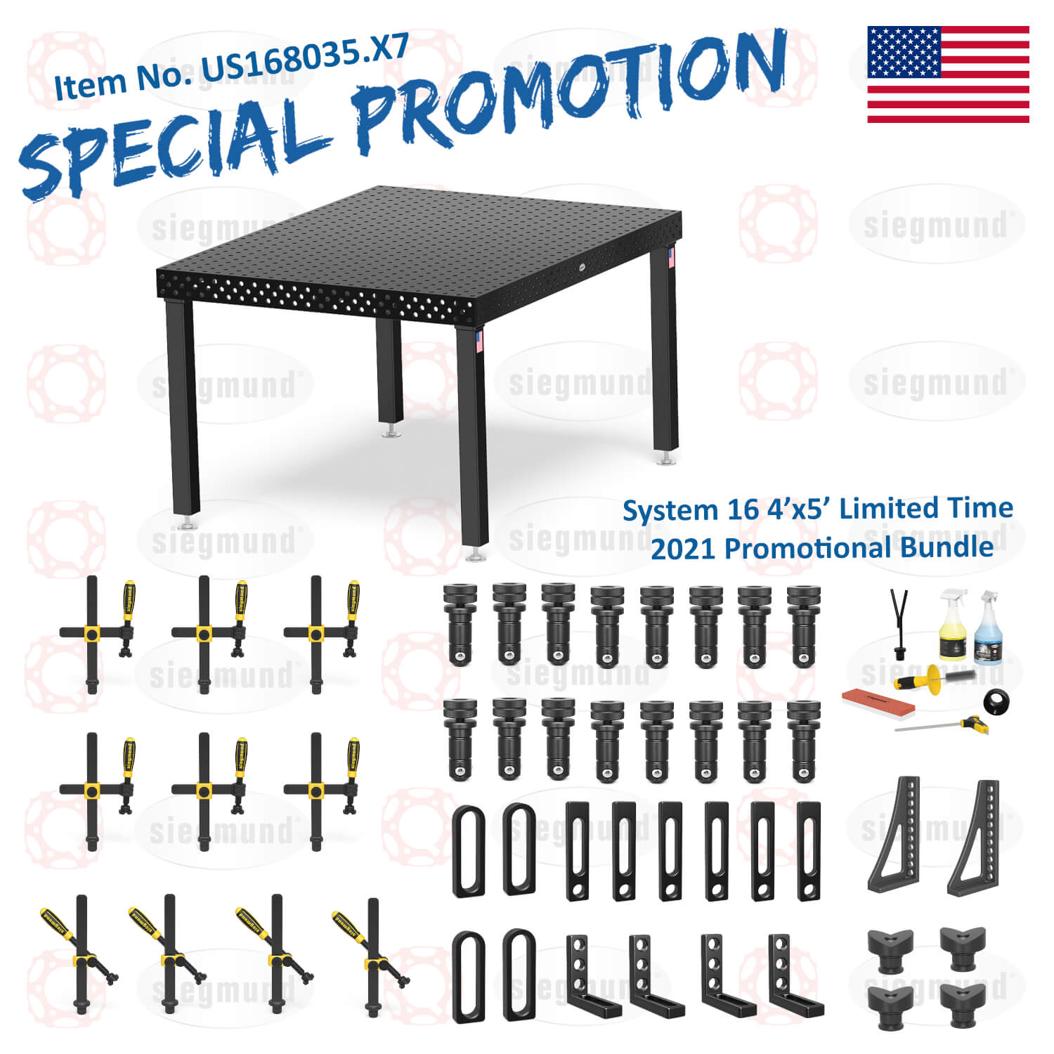 US168035.X7: System 16 4'x5' Imperial Series (Inch) Welding Table Bundle (2021 SPECIAL PROMOTION)