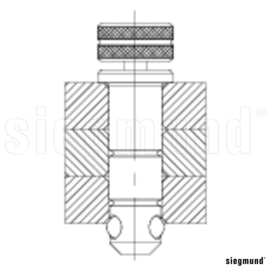 Fast Clamping Bolt (Long) - Burnished (Item No. 2-280512)