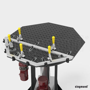 "System 16 1,200x12mm (47.2""x0.47"") Siegmund Octagonal Welding Table with Plasma Nitration (Item No. 2-951200.P)"