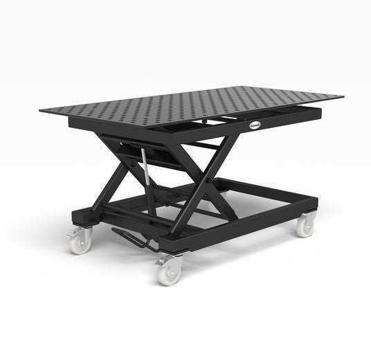System 28 Heavy-duty mobile lifting table incl. Perforated plate 2000x1000x15 (Item No. 2-HS804044.XD7)
