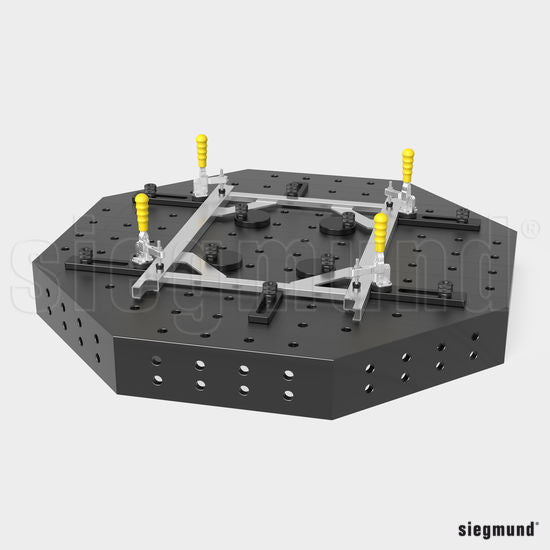 "System 22 800x18mm (31.5""x0.7"") Siegmund Octagonal Welding Table with Plasma Nitration (Item No. 2-930800.P)"