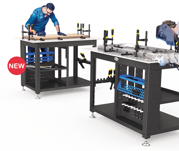 "Siegmund Workstation with 50x50mm Grid - 1200x800x12mm (47""x31""x0.47"") System 16 (Item No. 4-167100) System 16 Welding Tables - Quantum Machinery Group: Official US Welding Tables and Fixtures Division"