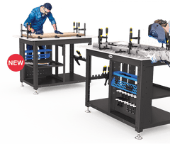 "Siegmund Workstation with 50x50mm Grid - 1200x800x12mm (47""x31""x0.47"") System 16 (Item No. 4-167198) - Quantum Machinery Group: Official US Welding Tables and Fixtures Division"