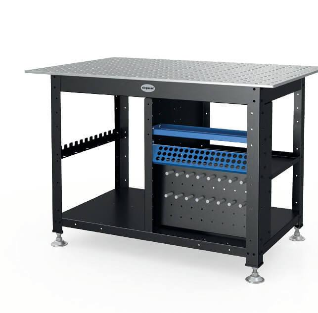 "Siegmund Workstation with 50x50mm Grid - 1200x800x12mm (47""x31""x0.47"") System 16 (Item No. 2-167342 + 2-164004.XX)"