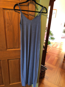 Blue Maxi Thin Strap Dress