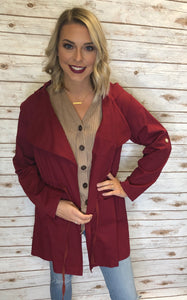 177 Burgundy Light Jacket