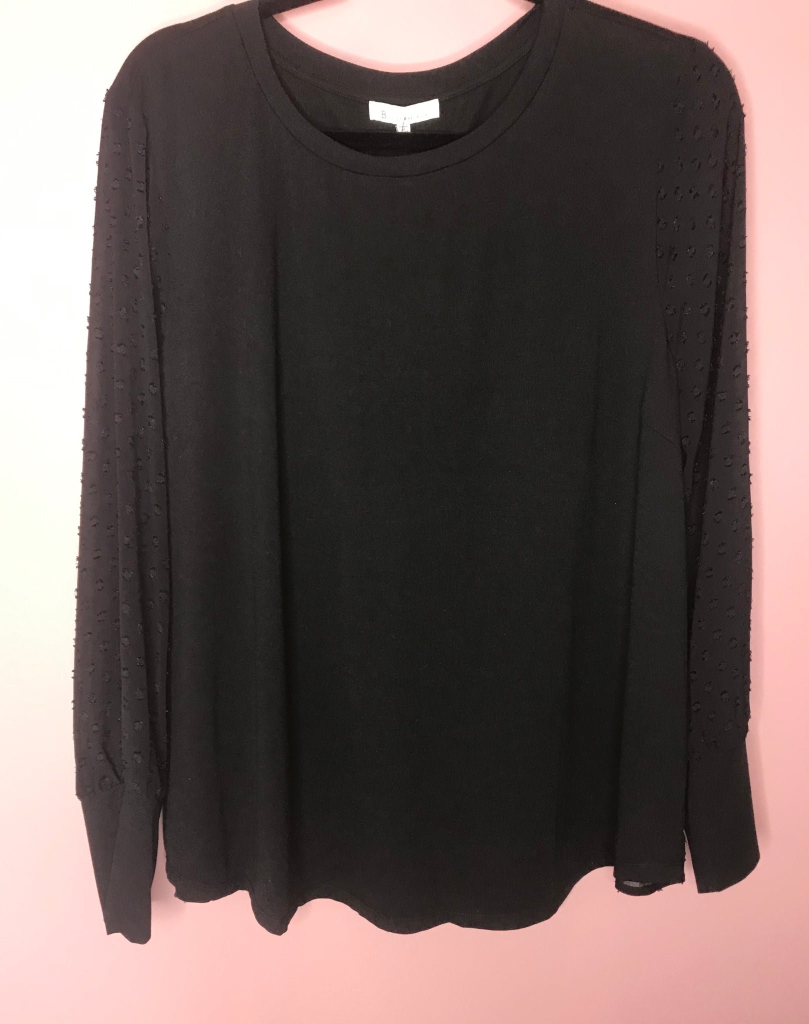 245 Black Top W/ Black Button Detail