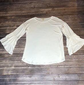 Ivory One Size Bell Sleeve