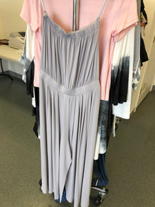 Grey Off Shoulder Midi Romper